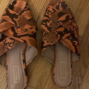 Top Shop Open Toe Flats - New with tags